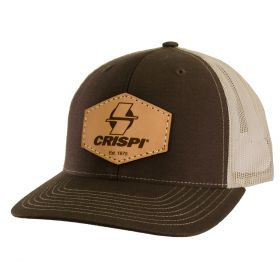 Crispi Leather Patch Meshback Trucker Hat