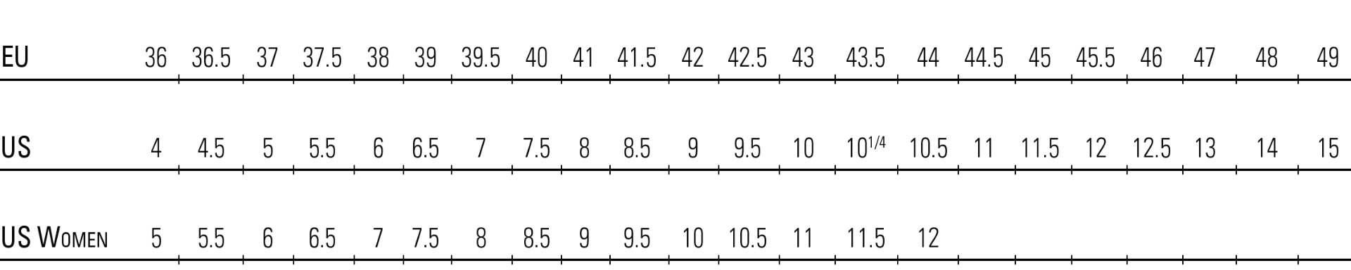 Crispi Boot Sizing Chart
